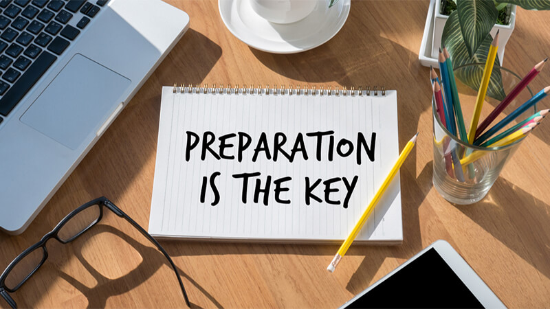 preparation is the key notebook